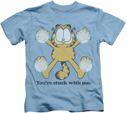 Garfield kids t-shirt Stuck carolina blue