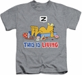 Garfield kids t-shirt This Is Living heather