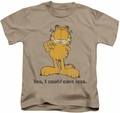 Garfield kids t-shirt Yes I Could Care Less sand