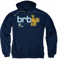 Garfield pull-over hoodie Be Right Back adult navy