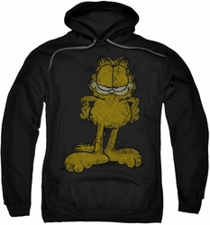 Garfield pull-over hoodie Big Ol Cat adult black