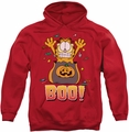 Garfield pull-over hoodie Boo! adult red