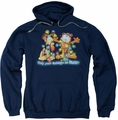 Garfield pull-over hoodie Bright Holidays adult navy