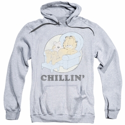 Garfield pull-over hoodie Chillin adult athletic heather
