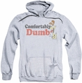 Garfield pull-over hoodie Comfortably Dumb adult athletic heather