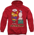 Garfield pull-over hoodie Compute This adult red