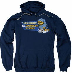 Garfield pull-over hoodie Contradicition In Terms adult navy
