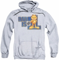 Garfield pull-over hoodie Dad Is Number One adult athletic heather