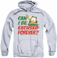 Garfield pull-over hoodie Excused Forever adult athletic heather