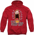 Garfield pull-over hoodie Friday adult red