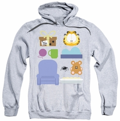 Garfield pull-over hoodie Gift Set adult athletic heather