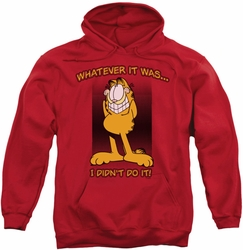 Garfield pull-over hoodie I Didn't Do It adult red