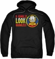 Garfield pull-over hoodie I Only Look Harmless adult black
