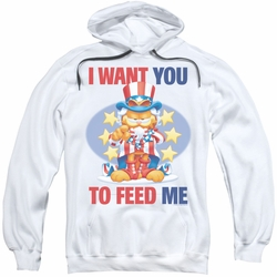 Garfield pull-over hoodie I Want You adult white