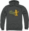 Garfield pull-over hoodie Just Pretend I'm Listening adult charcoal