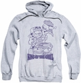 Garfield pull-over hoodie King Of The Grill adult athletic heather