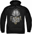 Garfield pull-over hoodie Lasagna For Life adult black