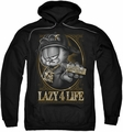 Garfield pull-over hoodie Lazy 4 Life adult black