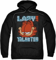 Garfield pull-over hoodie Lazy But Talented adult black