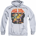 Garfield pull-over hoodie Let The Fur Fly adult athletic heather