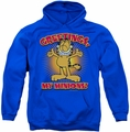 Garfield pull-over hoodie Minions adult royal blue