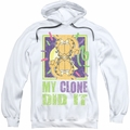 Garfield pull-over hoodie My Clone Did It adult white