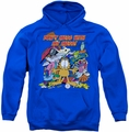 Garfield pull-over hoodie My Mess adult royal blue