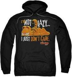 Garfield pull-over hoodie Not Lazy adult black
