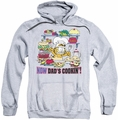 Garfield pull-over hoodie Now Dad's Cooking adult athletic heather
