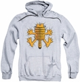 Garfield pull-over hoodie Ow adult athletic heather