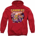 Garfield pull-over hoodie Pet Force Four adult red