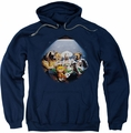 Garfield pull-over hoodie Playing With The Big Dogs adult navy