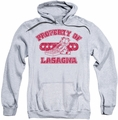 Garfield pull-over hoodie Property Of Lasagna adult athletic heather