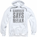 Garfield pull-over hoodie Relax adult white