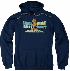 Garfield pull-over hoodie Rise Not Shine adult navy