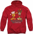 Garfield pull-over hoodie Share The Season adult red