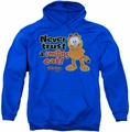 Garfield pull-over hoodie Smiling adult royal blue