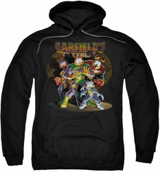 Garfield pull-over hoodie Spotlight adult black