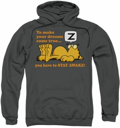 Garfield pull-over hoodie Stay Awake adult charcoal