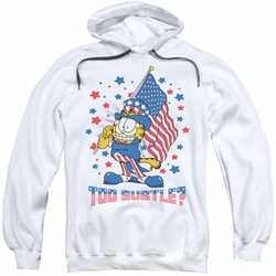 Garfield pull-over hoodie Subtle adult white