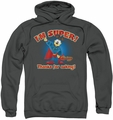 Garfield pull-over hoodie Super adult charcoal