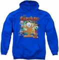 Garfield pull-over hoodie The Garfield Show adult royal blue