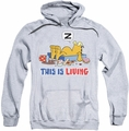 Garfield pull-over hoodie This Is Living adult athletic heather