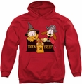 Garfield pull-over hoodie Trick Or Treat adult red