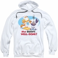 Garfield pull-over hoodie Well Done adult white