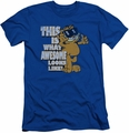 Garfield slim-fit t-shirt Awesome mens royal