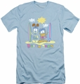 Garfield slim-fit t-shirt Beach Bums mens light blue