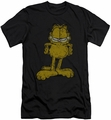 Garfield slim-fit t-shirt Big Ol' Cat mens charcoal