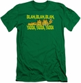 Garfield slim-fit t-shirt Blah Blah Blah mens kelly green