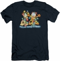 Garfield slim-fit t-shirt Bright Holidays mens navy